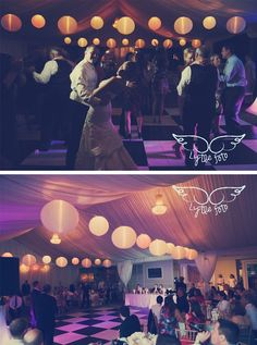 Another Gorgeous Shot Of An Evening Reception In The Piedmont Garden Tent!  Hollie Lytle Photography