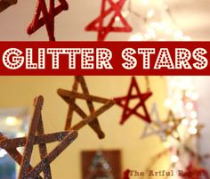 Glitter Stars - A Simple Christmas Craft Made from Popsicle Sticks