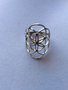 Sacred Geometry Sterling Silver Seed of Life Ring by WookNook13
