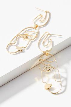 Slide View: 1: Profile Drop Earrings