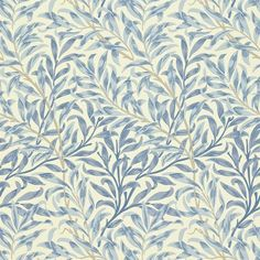 Willow Boughs by William Morris. The Original Morris & Co - Arts and crafts, fabrics and wallpaper designs by William Morris & Company William Morris Wallpaper, Morris Wallpapers, Blue Wallpapers, William Morris Tapet, Hd Backgrounds, Craftsman Wallpaper, Whatsapp Wallpaper, Wallpaper Online, Arts And Crafts Movement