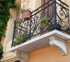 Athens has some beautiful architecture (this one in Plaka)… Balcony Railing Design, Athens Greece, Beautiful Architecture, The Neighbourhood, Cruise, Greek, Stairs, Construction, Windows