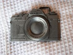 """Excited to share the latest addition to my #etsy shop: Vintage 1970's R.J. Roberts & Company USA Pewter Fujica AX-5 Camera Face Belt Buckle w/ Detail ~ Holds Belt Width up to 1 3/4"""" http://etsy.me/2Cu2BcB"""