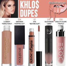 @allintheblush dupes for khlo$ by kylie cosmetics - koko kollection