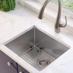 "Kraus Standart PRO 16 Gauge 21"" x 18"" Undermount Kitchen Sink with Bottom Grid, Drain Assembly and Drain Cap & Reviews | Wayfair"