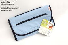 BAMI: Cambiador portátil azul claro, ¡perfecto para llevarlo contigo en cualquier momento!
