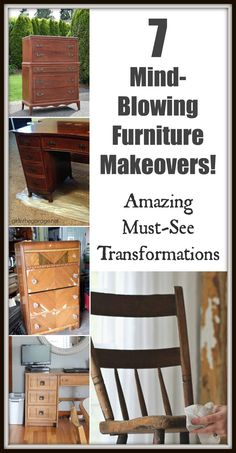 The best DIY projects & DIY ideas and tutorials: sewing, paper craft, DIY. DIY Furniture Plans & Tutorials : 7 Mind-Blowing Furniture Makeovers - Amazing, Must-See Transformations -Read Do It Yourself Furniture, Furniture Repair, Old Furniture, Refurbished Furniture, Paint Furniture, Repurposed Furniture, Furniture Projects, Furniture Makeover, Modern Furniture