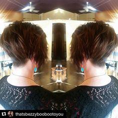 """#Repost @thatsbezzyboobootoyou My last post before the extra long weekend.. This fun short cut is exactly the kind of mood I'm in today  #longweekendfun #conlonwedding2015 #hairbykbez #jigsawforhair #yegstylist #yegsalon #yeghair #shorthairdontcare"" Photo taken by @jigsawforhair on Instagram, pinned via the InstaPin iOS App! http://www.instapinapp.com (07/31/2015)"