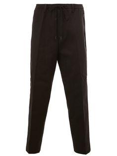 JUUN.J drawstring waist cropped trousers. #juun.j #cloth #trousers
