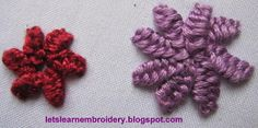 Let's learn embroidery: Buttonhole knot flower-single