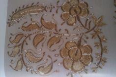 """Suzeni"" - Embroidery with metal thread ""tel sarma"""