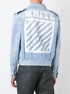 Blue cotton military denim jacket from Off-White