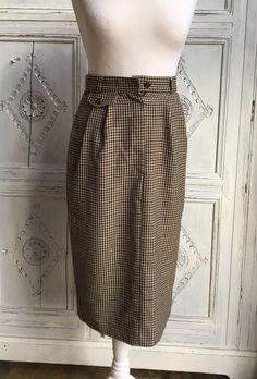b7652cf4473dc Vintage St. Michael Skirt Country Dogtooth Wiggle 1980s Size UK 8   MarksandSpencer  Casual