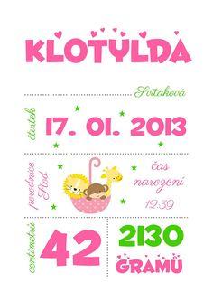 Plakát - dekorace do dětského pokoje / Zboží prodejce adenka84 | Fler.cz