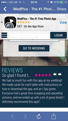Wedding photo app