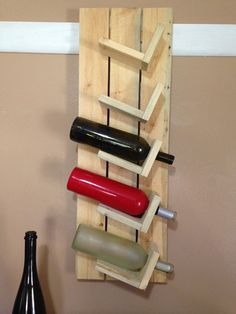 Rustic pallet wood wine rack by BirdShopCafe on Etsy