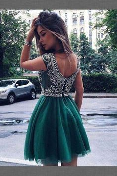 Discount Easy Prom Dresses Short Green A -line Round Neck Tulle Short Prom Dress, Green Homecoming Dress Dresses Short, Hoco Dresses, Dress Prom, Dresses 2014, Prom Gowns, Party Dresses, Bridesmaid Dresses, Wedding Dresses, Cheap Evening Dresses