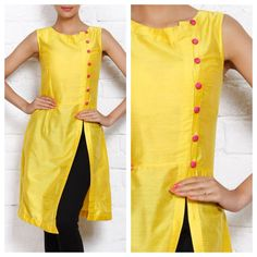 FRONT SLIT A LINE KURTI / SALWAR KAMEEZ - MARKING,CUTTING & SEWING - YouTube
