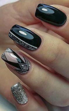 nail polish ideas for spring . nail polish ideas for summer . nail polish ideas for winter . Almond Acrylic Nails, Acrylic Nail Art, Black Nail Designs, Acrylic Nail Designs, Fall Nail Art Designs, Vacation Nails, Nail Polish, New Year's Nails, Fall Nails