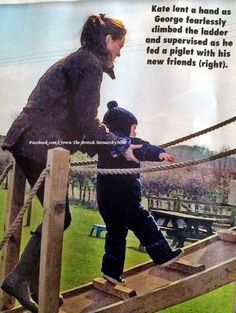 The Duchess of Cambridge and Prince George visiting Snettisham Park, a 329 acre working farm in King's Lynn, Norfolk.  April 2015