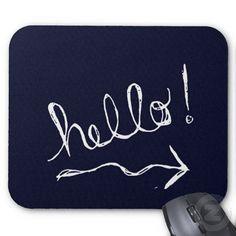 Hello Blue Mousepad