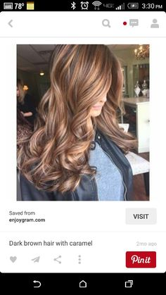 Dark brown w caramel highlights