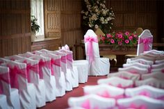 Queen's Gallery at Gosfield Hall with 120ft long aisle by Lavenham Photographic