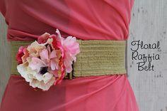 How to make a floral raffia belt by KristinaJ., via Flickr