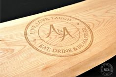 Laser Engraved Live Edge Charcuterie board personalized wedding gift or shower gift.