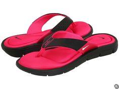 4c7cc1c7e192c6 sandals  Nike Womens Comfort Thong Black White-Vivid Pink 7 B - Medium