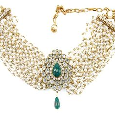 Zimaya Maharani Emerald Necklace. This too would be amazing with the green Lanvin. Yes, I'm hung up on the Lanvin.