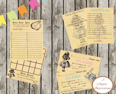 Hey, I found this really awesome Etsy listing at https://www.etsy.com/listing/210618399/alice-in-wonderland-baby-shower-games-7