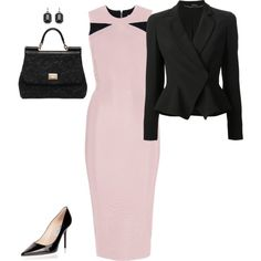 """Blush & Black"" by lanaaustin on Polyvore"