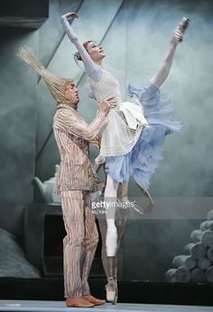 """<<Svetlana Zakharova and Alexei Loparevich as Broom (Bolshoi Ballet) in """"Cinderella"""" at the Royal Opera House in Covent Garden on August 7, 2006 in London, England >>"""