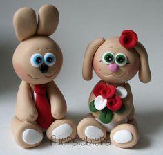 Bunny Wedding Cake Topper by fliepsiebieps1, via Flickr