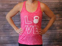 Love Tank Love Kettlebell Tank Workout Top by shoretopleasedesigns