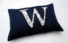 CUSTOM alphabet/ initial cushion cover  FREE POST by MadeWise