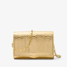 e7f0adcb4c0c Michael Kors Yasmeen Metallic Gold Snakeskin Leather Clutch - Tradesy  Michael Kors Collection, Leather Clutch