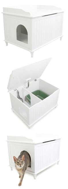 Modern kitty litter box #Designer_Pet