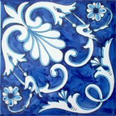 Antique Tiles, Vintage Tile, Tile Art, Mosaic Tiles, Waterline Pool Tile, Peacock Art, Blue Pottery, Portuguese Tiles, Blue Tiles