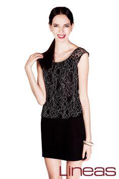 Vestido, Modelo 19655. Precio $280 MXN #Lineas #outfit #moda #tendencias #2014 #ropa #prendas #estilo #primavera #outfit #vestido