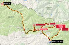 carte 3 _ 3ème étape–Lantosque– Belvédère –Vallon de la Gordalasque– demi-tour – Belvédère – Saint-Martin-Vésubie –Vallon de la Madone de Fenestre– demi-tour – Saint-Martin-Vésubie –Le Boréon– demi-tour –Col Saint-Martin– Valdeblore –Vallon des Millefonts– demi-tour – Valdeblore – Saint-Sauveur-sur-Tinée – Isola –Auron= 175 km