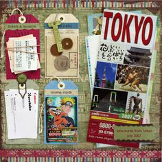 travel collection of memorabilia.  What a great idea to create tags out of them for layouts.  I love this.