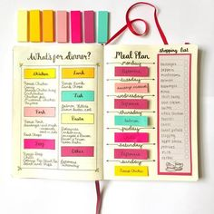 How Do You Use Your Bullet Journal® to Meal Plan? — On Trend | The Kitchn #bulletjournal #bujo #bulletjournaling