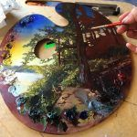 """Artists Turn Their Palettes into Paintings for the Exhibition """"Point of Origin"""""""