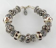 Authentic Pandora Silver Charm Bracelet with Beautiful Murano Beads Spacers | eBay $129