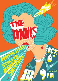 The Donnas Concert Posters| The Donnas Concert Poster (At the Ottobar) by Ana Benaroya