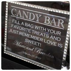Candy bars serve a dual purpose- decoration and wedding favors