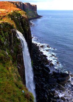 kilt rock & mealt falls,isle of skye, scotland.