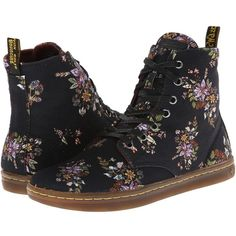 Dr. Martens Hackney 7-Eye Boot ($75) ❤ liked on Polyvore featuring shoes, boots, black belladonna fine canvas, sneakers & athletic shoes, black lace up boots, canvas shoes, dr martens boots, canvas boots and black lace up shoes